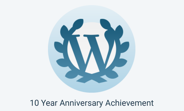 WordPress.com 10-year notification